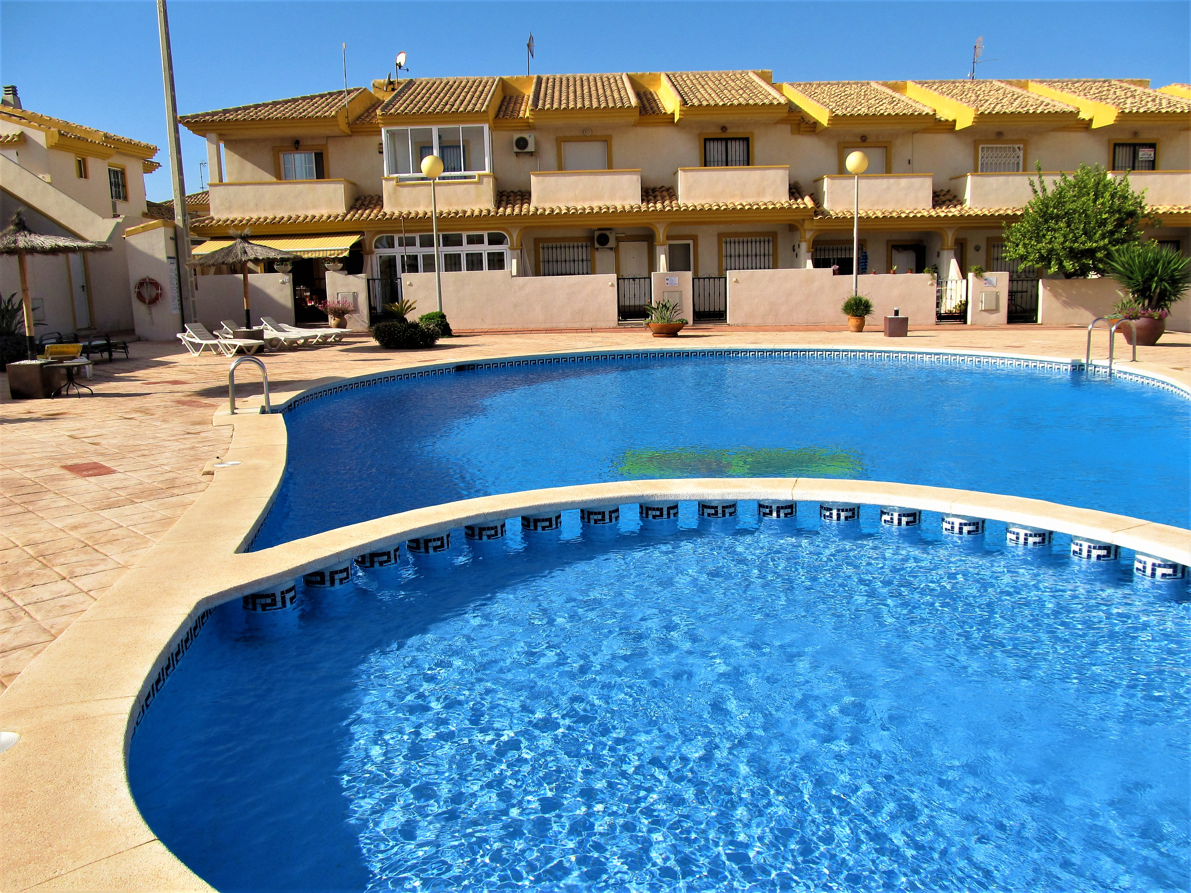Two bedroom terraced property with pool!