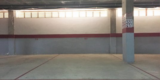 Parking space in underground garage in Cala Flores