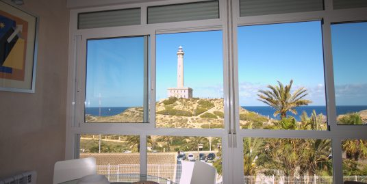 Loft-style apartment in front of the Cabo de Palos light house