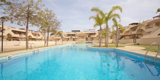 Modern refurbished two bedroom penthouse with pool, playground and garage